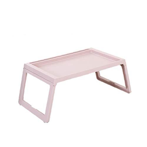 1 PC de escritorio del ordenador portátil plegable de plástico multifunción Tabla Sofá cama para laptop uso en el hogar Altura ajustable Mesa plegable rosa