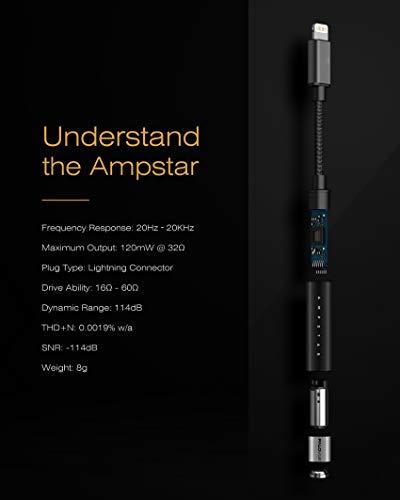 PALOVUEAmpstarHi-FiミニライトニングオーディオアダプターLightningto3.5mmMFi認証A2Mデュアルコアアンプ対応機種:iPhone11ProMaxiPhoneXXSMaxXRiPhone8Plusプロフロー。