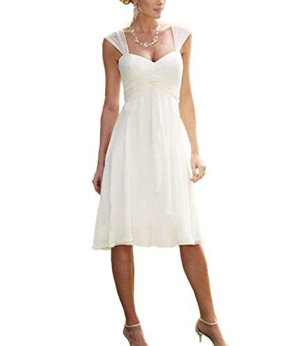 VKStarHerzenform Festkleid Knielang Chiffon Abendkleid mit falteten Ballkleid Brautjungfernkleid...