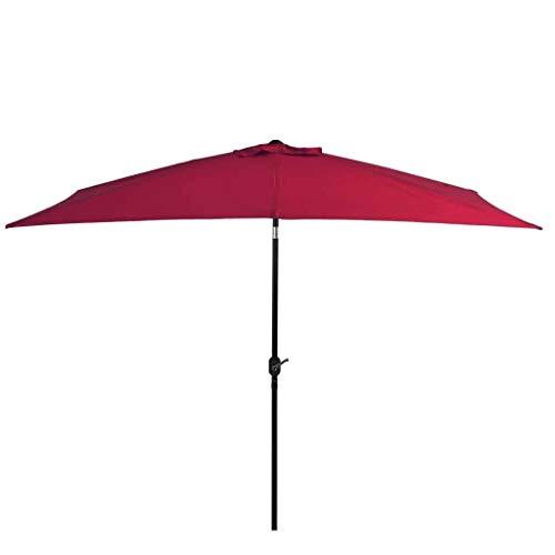 XNJJ Sombrilla Resistente al Agua, 300200cm de 360 Grados en voladizo Offset Colgando Patio Umbrella con Easy Inclinación-Burdeos Rojo 9.8