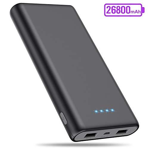 SWEYE Powerbank 26800mAh,【Hohe Kapazität】 Externer Akku Portable Ladegerät mit 2 USB Ports Output Schnellladung Tragbares Ladegerät Ultrakompakter Externer Batterie Power Akkupack für Handy, Tablet