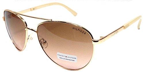 Tommy Hilfiger LINDSAY WM 0L275 mujeres rosa oro/rosa aviador gafas de sol