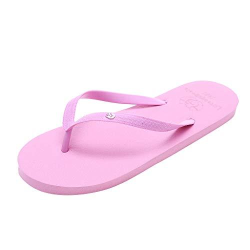 Yourgod Verano Pareja Moda Ardilla Casual Antideslizante Zapatos de Playa Sandalias Flip Flops Animal Sólido Playa Chanclas Antideslizante Zapatillas Casual Zapatos, color Rosa, talla 39 1/3 EU