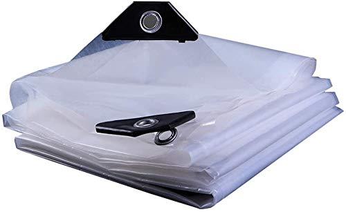 Lona Claro al Aire Libre Lona 100% Impermeable Lona Transparente Pesada Cubierta de Polvo de la Tela de plástico/Pintar Suciedad Hoja / / Lluvia con Ojales, Espesor de 0,12 mm, 100 g/m²