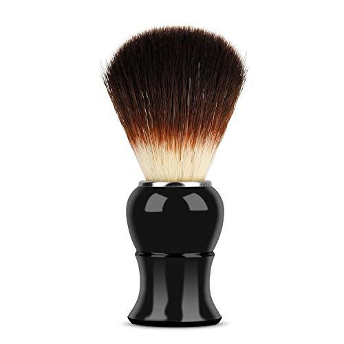 Mopalwin Dachshaar Rasierpinsel, Dunkelbraun Dachshaar Männer Rasierpinsel mit Hochwertigem Griff Zink Badger Hair Shaving Brush Reines Dachshaar für die Perfekte Rasur (Schwarz)
