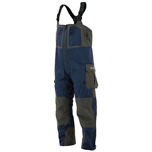 FROGG TOGGS Men's Pilot II Guide Waterproof Breathable Rain Bib, Large, Dust Blue/Slate