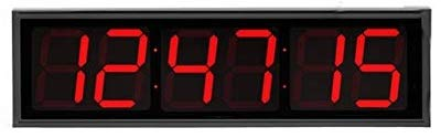 Huge Industrial Warehouse Cafeteria Gym Clock Stopwatch Countdown Timer 12 Inch Numbers Aluminum Frame with Full Function Remote Control