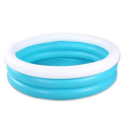 Marca Amazon – Umi piscina inflable para niños, piscina infantil, piscina de 152 cm duradera, piscina para niños, piscina azul y blanca para niños