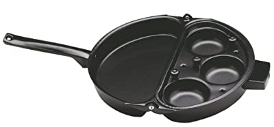 Norpro Nonstick Omelet Pan with Removable 3 Egg Poacher