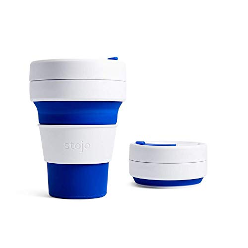 Stojo Collapsible Pocket Cup, Silikon, blau, 5 x 13 cm