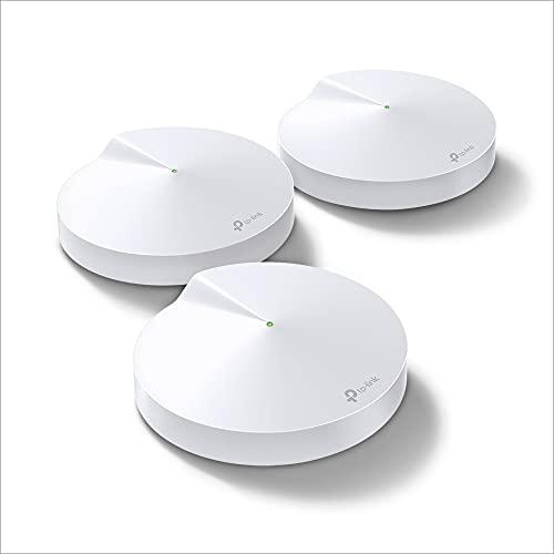 TP-Link Deco M9 Plus Mesh WLAN Router AC2200 Triband WLAN-Heimnetz-Komplettlösung (Abdeckung bis zu 600m², passt in jeder Art von Zuhause, 2x Gigabit Ports, 3pack) weiß