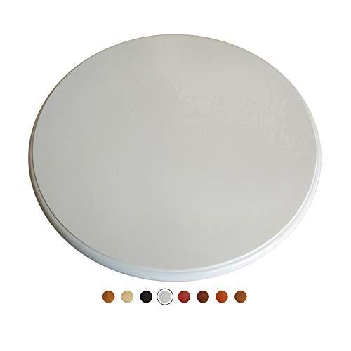 Piatto Girevole in Legno 80 / 90cm Tavola Rotante per Tavolo E Cucina Vassoio da Portata in Legno Massello con Cuscinetto Silenzioso 8 Colori