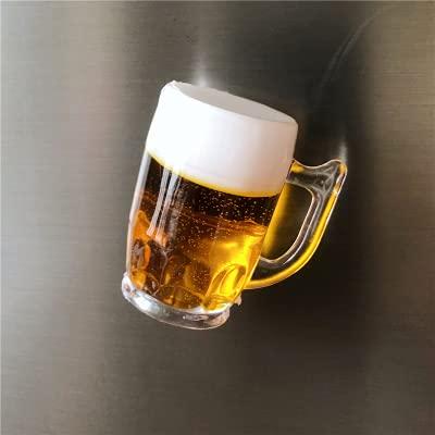 Guiping Imán de cerveza para nevera con diseño de imanes de nevera (color: H)