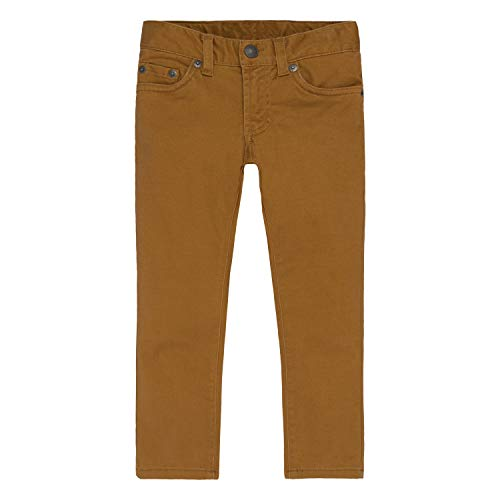 Levi's Boys' Big 511 Slim Fit Soft Brushed Pants, Brown Rubber, 14