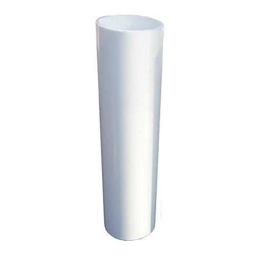 E14 Kerzenhülse 3 Stück L. 100mm ø24mm Innen glatt Kunststoff Weiß für Kerzenfassung Kronleuchter Lüster Kerzenhülle Fassungshülse
