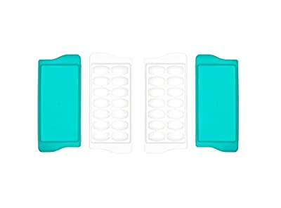 OXO Tot 2-Piece Baby Food Freezer Tray With Protective Cover, Teal
