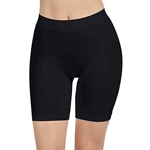 Bringbring Frauen Höschen Damen Reizvolles Hohe Taille Komfortable Oberschenkel Schlanker Slip Shorts für unter Kleider Hosen