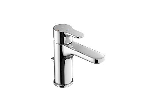 Roca L20 - grifo monomando para lavabo con maneta lateral, desagüe automático,...