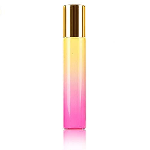 Flacon 1pcs / 5pcs 10ml Couleur Gradient Épais Verre Roll on Parfum Huile Essentielle Bouteille Vide Bouteille Roller Ball Durable for Voyage (Color : Yellow Rose Bottle, Material : Glass)