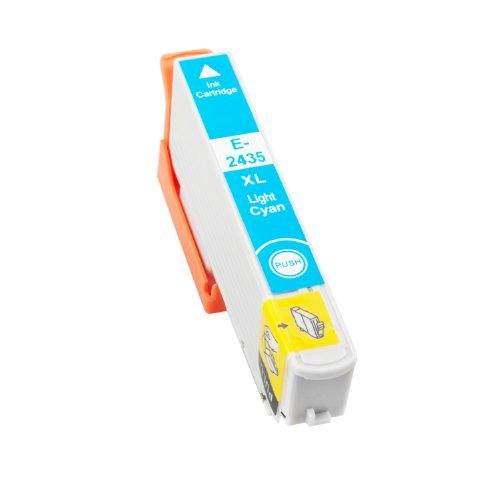 TONERPACK T2435/T2425 (24XL) Cyan Light Cartucho de Tinta Generico - Reemplaza C13T24354012/C13T24254012 para Epson