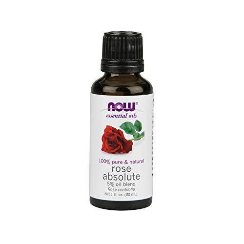 Now Foods Aceite Esencial, Aceite Absoluto De Rosa 1 Unidad 30 ml