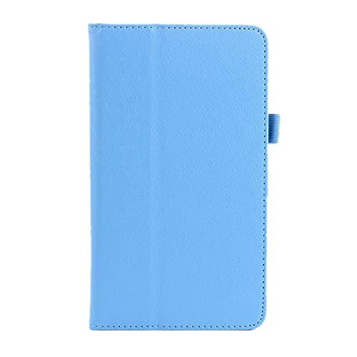 INSOLKIDON Kompatibel mit ASUS ZenPad S 8.0 (Z580C / Z580CA) 8-Inch Tablet Hülle Lederrückseitige Abdeckung Hülle Bumper Ganzkörperschutz Leder Schutzhülle Tablet Halter Shell (Blau)