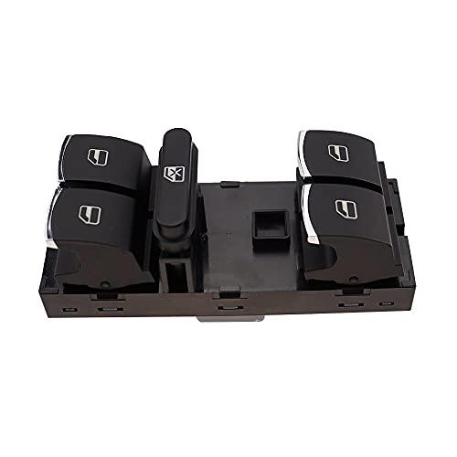 Botón de Interruptor de la Ventana Maestra de energía eléctrica Compatible con VW Passat B6 Jetta Tiguan Golf MK5 MK6 GTI Seat Leon MK2 Rabbit CC 5ND959857 (Color : 1pcs x Master Switch)