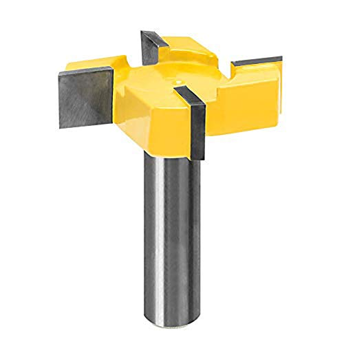 MeiBoAll CNC Spoilboard Surfacing Router Bit, 1/2 Inch Shank 2 Inch Cutting Diameter 4 Flute Slab Flattening Router Bit Carbide Planer Router Bits Edge Treatment Grooving Router Bits