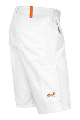 strongAnt® - Pantalones Cortos de Pintor yesero Limpiador Pantalones de Trabajo 260 gm - Hecho en la UE - Blanco 42