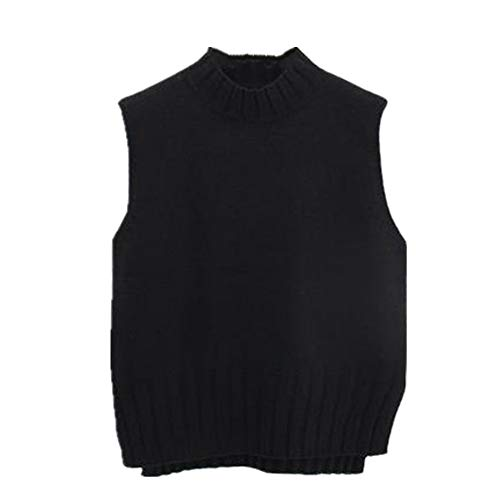NP Chaleco de lana de cachemir de cuello redondo para mujer