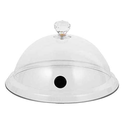 Doitool Tapa de Domo Transparente para Alimentos Tapa de Domo para Fumar Tapa para Servir Comida Tapa de Campana Cocina Comida Tapa Transparente Tapa 26. 5X26. Los 5X14cm