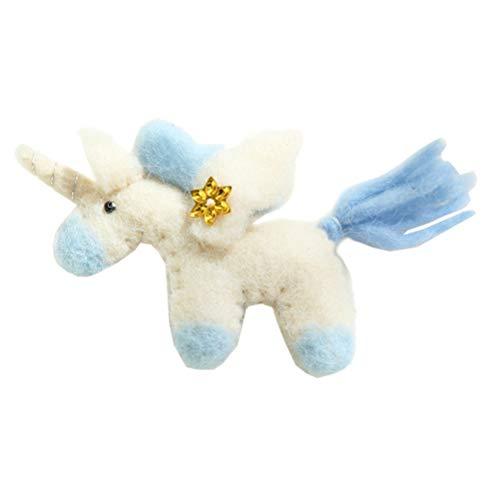 LIOOBO Adornos de muñecas de Navidad Fieltro decoración de Felpa de Unicornio muñecas Colgantes de árbol de...