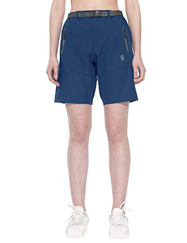 Little Donkey Andy Pantalones cortos de carga elásticos para mujer, de secado rápido, para senderismo, camping, viajes, color azul marino, talla XL
