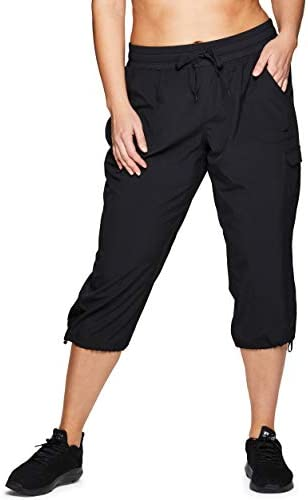 RBX Active Women s Plus Size Fashion Lightweight Stretch Woven Cargo Capri Pant with Pockets product image