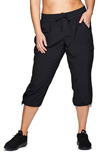 RBX Active Women's Plus Size Lightweight Drawstring Cargo Capri Pant