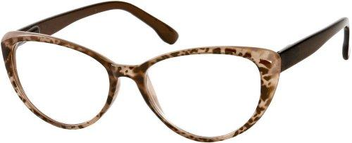 +1.50 Katzenaugen Lesebrille, Leopard Braune Vorderseite mit Federbandbügeln, Retro Designer Mode Damen