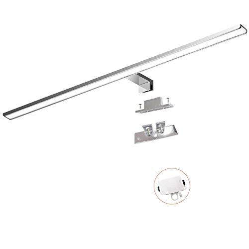 Cywer LED Spiegelleuchte 80cm IP44 Aufbauleuchte + Klemmleuchte, 15W, 1200lm, Badleuchte Schminklicht Badezimmer Schrankleuchte Aufbauleuchte Schrank-Beleuchtung [Energieklasse A+] (800mm-3000k)