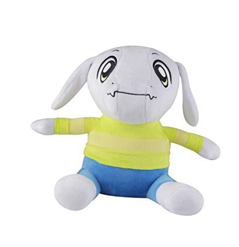 Zpong 30Cm Undertale Plush Toys Oveja Vestida De Amarillo, Undertale Plush Soft Stuffed Doll Toy para Niños Niños Cumpleaños Peso 160G