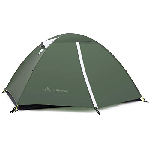BISINNA 2 Person Camping Tent Lightweight Backpacking Tent Waterproof Windproof Two Doors Easy Setup Free Standing Double Layer Ultralight Tent for Camping Outdoor Hunting Hiking Mountaineering Travel