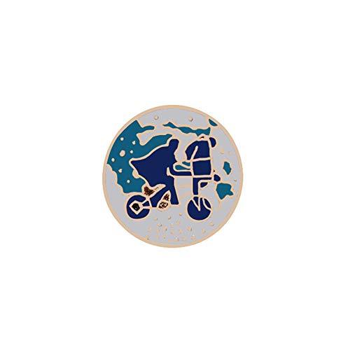 XJJJ Broche Redondo Anime Broche Icono Tierra Planeta Sol Pin Mochila Sombrero Solapa Pin Ropa Broche InsigniaViaje