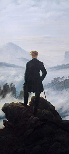 Bilderdepot24 Türtapete selbstklebend | Caspar David Friedrich - Der Wanderer über dem Nebelmeer | in 90x200 cm | einteilig Türaufkleber Türfolie Türposter | Wand-deko Dekoration Wohnung | 60051a