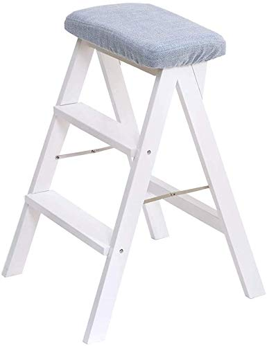 LLZYZJ Stairway Chair - Step stool Step Stools, Fold Solid Wood Creativity Multifunction Step Stool Household High Bench (Color : #7)