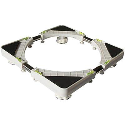 Washing Machine Adjustable Stainless Steel Washing Machine Base for Tumble Dryers Fridges Washing Machine Floor Trays