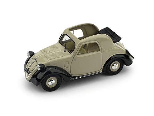 FIAT 500A TOPOLINO 1a SERIE APERTA 1936 BEIGE/BLACK 1:43 - Brumm - Auto d'Epoca - Die Cast - Modellino