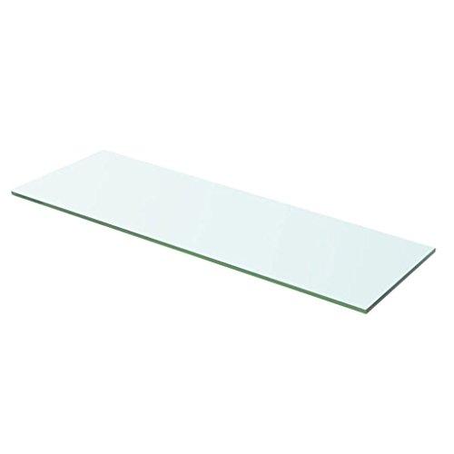 yorten Regalboden Glas Transparent Glasboden Einlegeboden Glasablage Glasregal Ersatzteile 8 mm (60 x 15 cm)