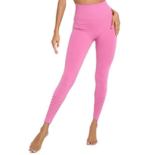 NIGHTMARE Las Mujeres estiran los Pantalones de Yoga para Mujer de Cintura Alta Power Stretch Medias de Entrenamiento Running Leggings Gym Leggings Power Stretch S