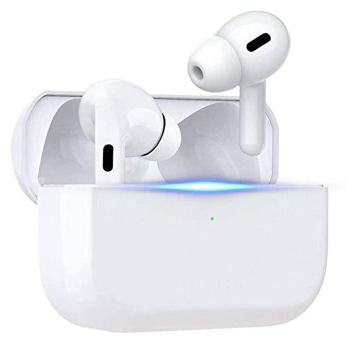 Auriculares Bluetooth, Auriculares inalámbricos, Auriculares con cancelación de Ruido, emparejamiento Inteligente, con Caja de Carga 24H y micrófono para Android/iPhone/AirPods