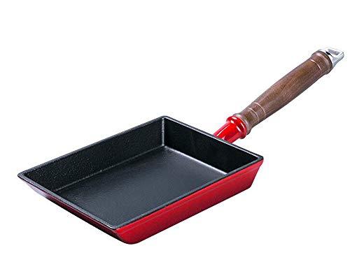 Huaishu ongecoate anti-aanbaklaag van gietijzer, dikke ei-brandende pan