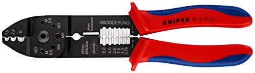 KNIPEX Alicate para crimpar terminales (230 mm) 97 21 215 C