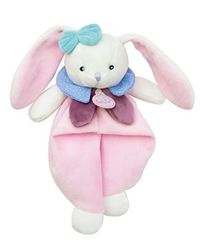 Baby Nat' - Doudou Lapin - Rose/Blanc - Cadeau Bébé -...